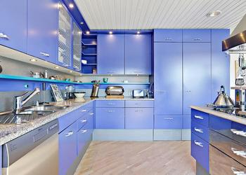 Top 30 Stylish, Modern Blue Theme Kitchen Collection- Plan n Design