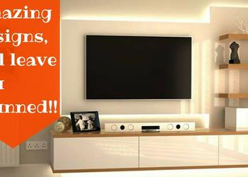 Amazing ways to design your TV Unit- Plan n Design