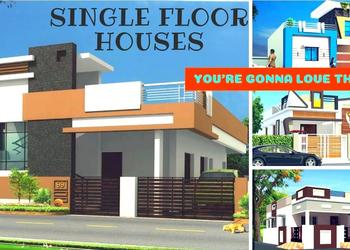 Individual House Front Elevation Designs | 2 BHK Single Floor House Designs 3d views- Plan N Design