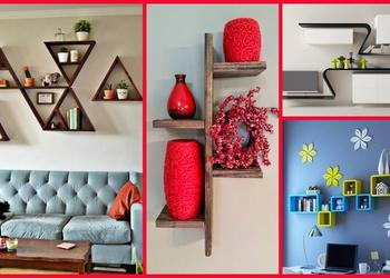 Creative DIY Wall Shelves Design Ideas 2018- Plan N Design