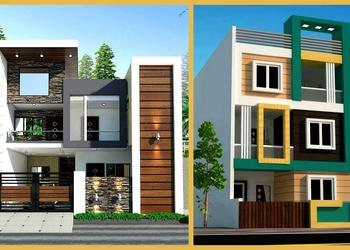 100 Most Beautiful Modern House Front Elevation Designs- 3d views Modern House- Plan N Design