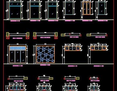 Window And Toilet Ventilator Plan And Elevations Dwg