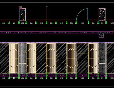 Wooden Partition Screen Room Divider Jali Deign Drawing