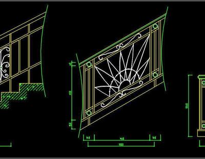 Stairase Railing Design Cad Block Free Download Autocad