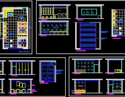 Beauty Salon Floor Plan Layout Dwg File Download Autocad