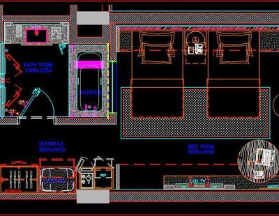 Five Star Hotel Guest Room Floor Plan Interior And