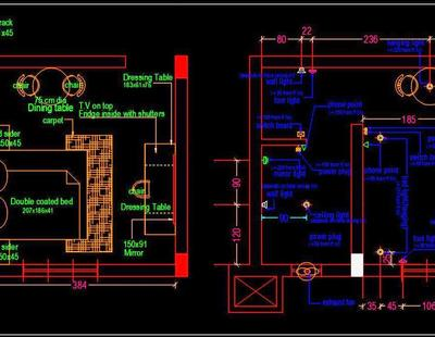 Hotel Guest Room Furniture Floor Layout Plan Free Download Autocad Drawings dwg
