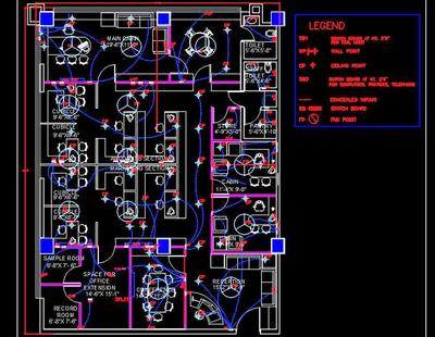 Office Design Layout And Electrical Plan Dwg Drawing 40