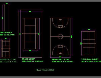 Outdoor Play Games Sports Field Autocad Dwg Plan N Design