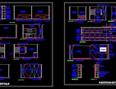 Office Cabins Partition Details Autocad Dwg Plan N Design