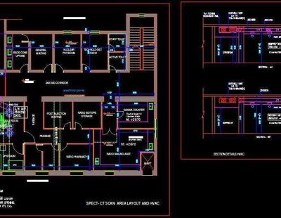 Hospital Spect Ct Scan Area Design Autocad Dwg Plan N