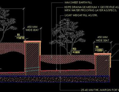 Typical Planter Section Detail Autocad Dwg Plan N Design
