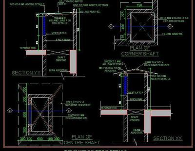 Typical Shaft Covering Detail Autocad Dwg Plan N Design