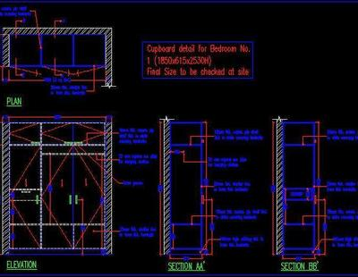 Wardrobe Design Autocad Dwg Plan N Design