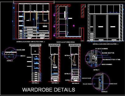 Sliding Wardrobe Cad Detail Autocad Dwg Plan N Design