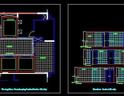 Housekeeping Layout And Elevations Autocad Dwg Plan N