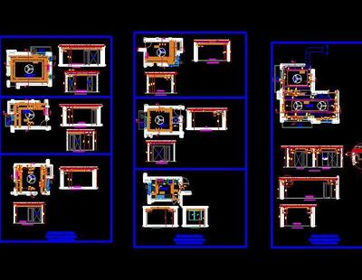 4 Bhk Independent Floor Layout And Rcp Design Autocad