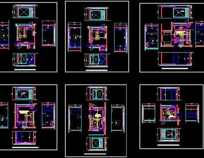 Rcp Hvac And Sections Of Different Bedrooms Autocad Dwg