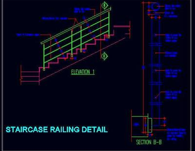S S Staircase Railing Detail Autocad Dwg Plan N Design