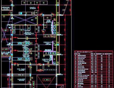 Commercial Kitchen Design With Equipment Detail Autocad