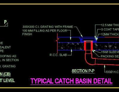 Typical Catch Basin Detail Autocad Dwg Plan N Design