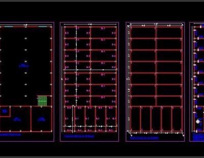Banquet Hall Layout And Structure Design Autocad Dwg