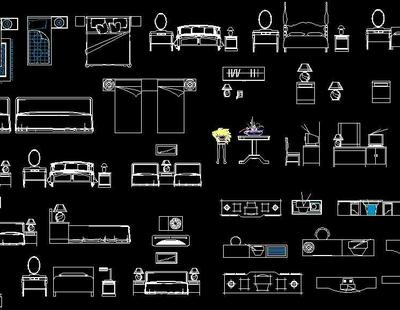 Bedroom Furniture Cad Blocks Autocad Dwg Plan N Design