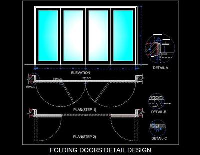 Folding Door Design Detail Autocad Dwg Plan N Design