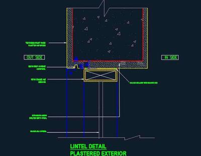 Upvc Window Lintel Sectional Detail Autocad Dwg Plan N