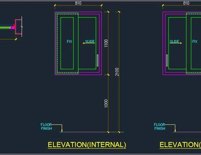 Upvc Sliding Window Cad Detail Autocad Dwg Plan N Design