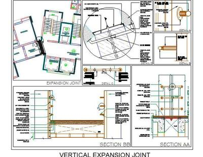 Building Vertical Expansion Joint Detail