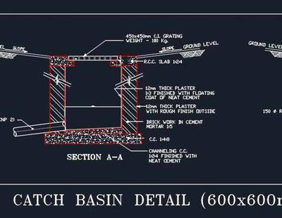 Catch Basin Detail Autocad Dwg Plan N Design