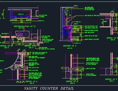 Traditional Design Vanity Detail Autocad Dwg Plan N Design