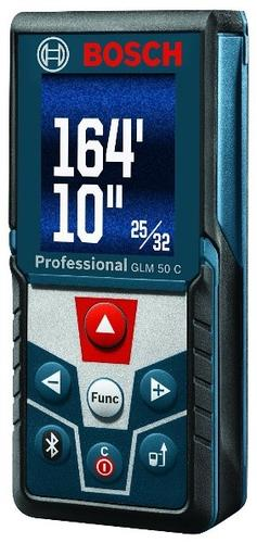 Bosch GLM 50 C Professional Laser Measure with Bluetooth and Backlit Display