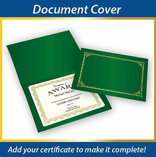 Geographics Linen Stock Document Cover, 9.75 x 12.5 Inches, Green
