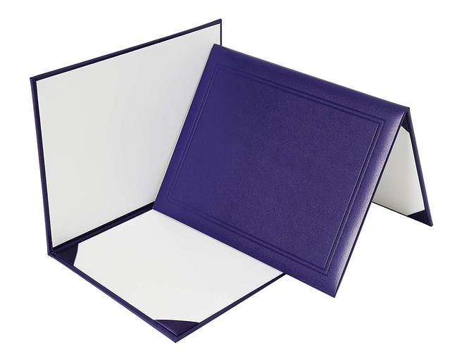 "GraduationMall Smooth Diploma Certificate Cover 8 1/2"" x 11"" (Purple)"