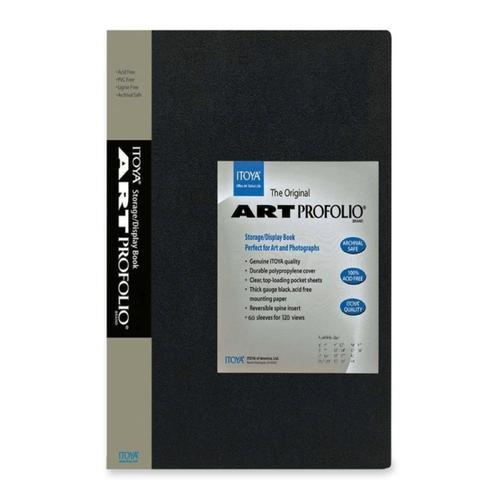 Itoya Art Portfolio 8-10 Inches Storage Display Book, 24 Sleeves for 48 Views