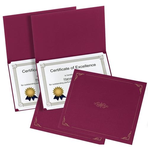 Oxford Certificate Holders, Letter Size, Burgundy (29900585BGD), 2 Pack of 5 Holders