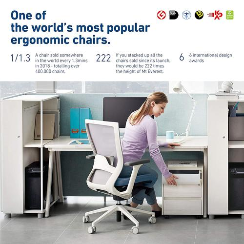 SIDIZ T50 Highly Adjustable Ergonomic Office Chair (TNB500HLDA): Advanced Mechanism for Customization/Extreme Comfort, Headrest, Ventilated Mesh Back, Lumbar Support, 3D Arms, Seat Slide/Slope (Gray)