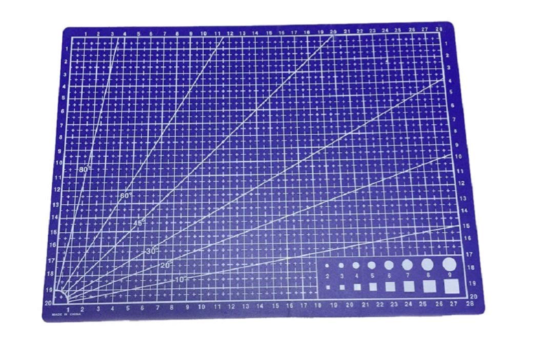 SYGA A4 Cutting Mat Printed Grid Lines