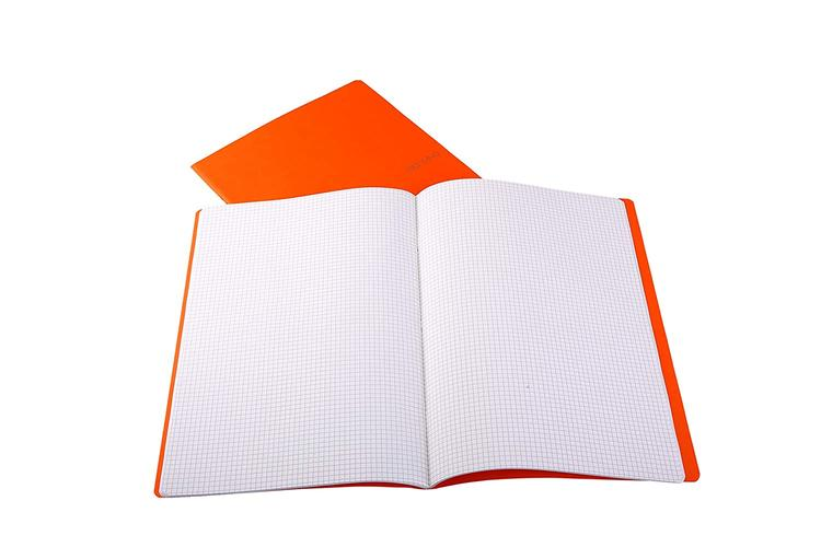 Fabriano Ecoqua A4 Staple Bound Graph 5MM Notebook Orange (Pack of 2)