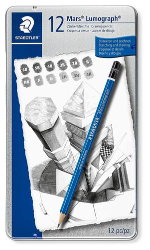 Staedtler Mars Lumograph Drawing Pencil for Design and Drafting