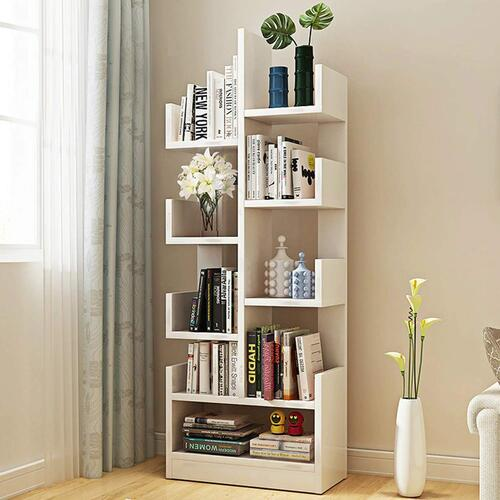 Kurtzy DIY Book Storage Display Rack Shelf Cabinet Unit Organizer for Living Room, Bed Room, Study Room & Office Decor (47CM x 21cm x 131cm)