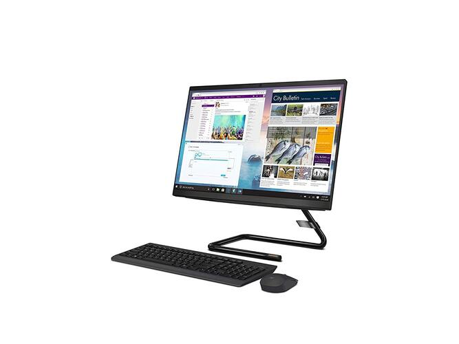 Lenovo Ideacentre A340 8th Gen Intel Core I3 21.5 inch All in One Desktop (4GB/ 1 TB HDD/Windows 10/ Integrated Graphics/DVD-RW/Black), F0EB000FIN