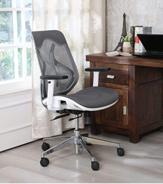 MISURAA Imported Xenon Mid Back Ergonomic Chair for Office & Home