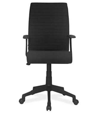 Nilkamal Thames FLOMMFABPSHT708BLK Medium-Back Office Chair