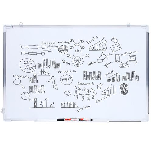 ANSIO Whiteboard Magnetic Double Sided Dry-wipe Dry Erase | Lightweight Aluminium Frame (A2)