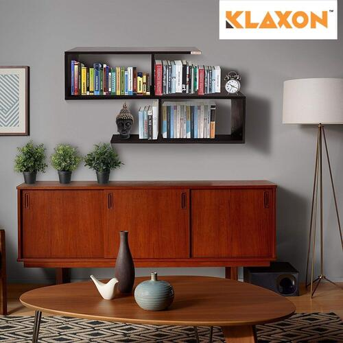 Klaxon Home Decor Wall Shelves/Book Shelf And Storage | Wall Shelves Wooden S Shape - (Brown, Matte Finish)(Do It Yourself - DIY)