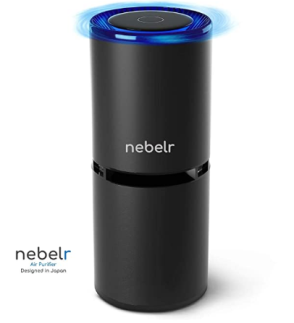 Air Purifier - Nebelr Car Air Purifier Ionizer - Removes PM2.5, Smoke, Dust and Bad Smell, 9 Million Negative Ion generator, Air Sanitizer - Designed in Japan