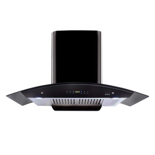 Elica Kitchen Chimney Auto Clean Touch Control With Baffle Filter 90 Cm, 1200 M3/H (Wd Hac Touch Bf 90, Glossy Black)